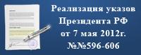 Реализация указов Президента РФ от 7 мая 2012 г. №№596-606 Правительством Новгородской области